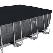 Stahlrahmenpool Power Steel 549x274x122cm mit Leiter 56998 - Blau/Weiß, MODERN, Kunststoff/Metall (549/274/122cm) - Bestway