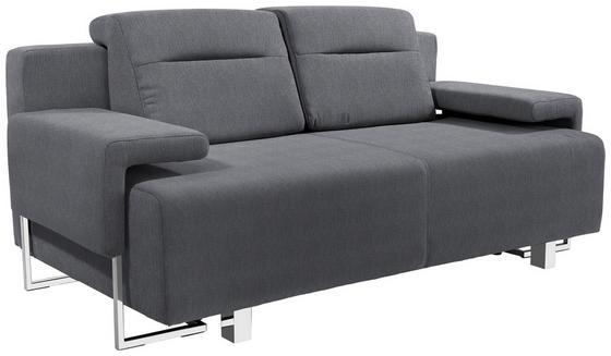 Schlafsofa Memphis - Chromfarben/Anthrazit, MODERN, Textil (222/83/90cm)