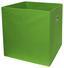 Skládací Krabice Cubi - zelená, Moderní, textil/dřevěný materiál (32/32/32cm)