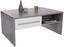 Couchtisch Melbourne - Hellgrau/Weiß, MODERN, Holzwerkstoff (105/45/60cm)