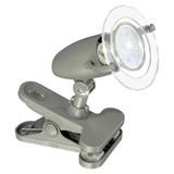 LED-klemmleuchte Pocket 2 - Transparent/Grau, MODERN, Kunststoff (15/17,5cm)