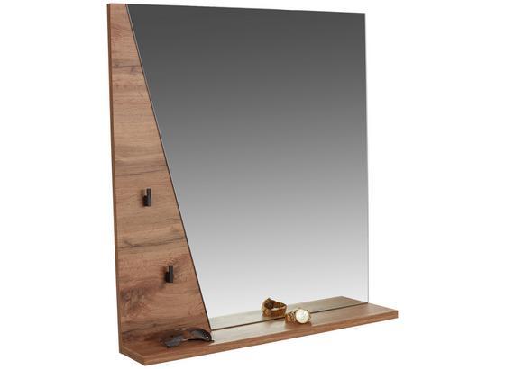 Zrcadlo Venedig - barvy dubu, Moderní, kompozitní dřevo/sklo (80/84/12cm)