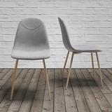 Židle Antonia - šedá/barva teak, Moderní, kov/textil (44/86/54cm) - Mömax modern living