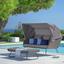 Záhradná Pohovka Curly - tmavosivá, Moderný, umelá hmota/kov (190/88-153/102cm) - Modern Living