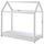Kinder-/Juniorbett Cabane 70x140 cm Weiß - Weiß, MODERN, Holz (70/140cm) - Livetastic