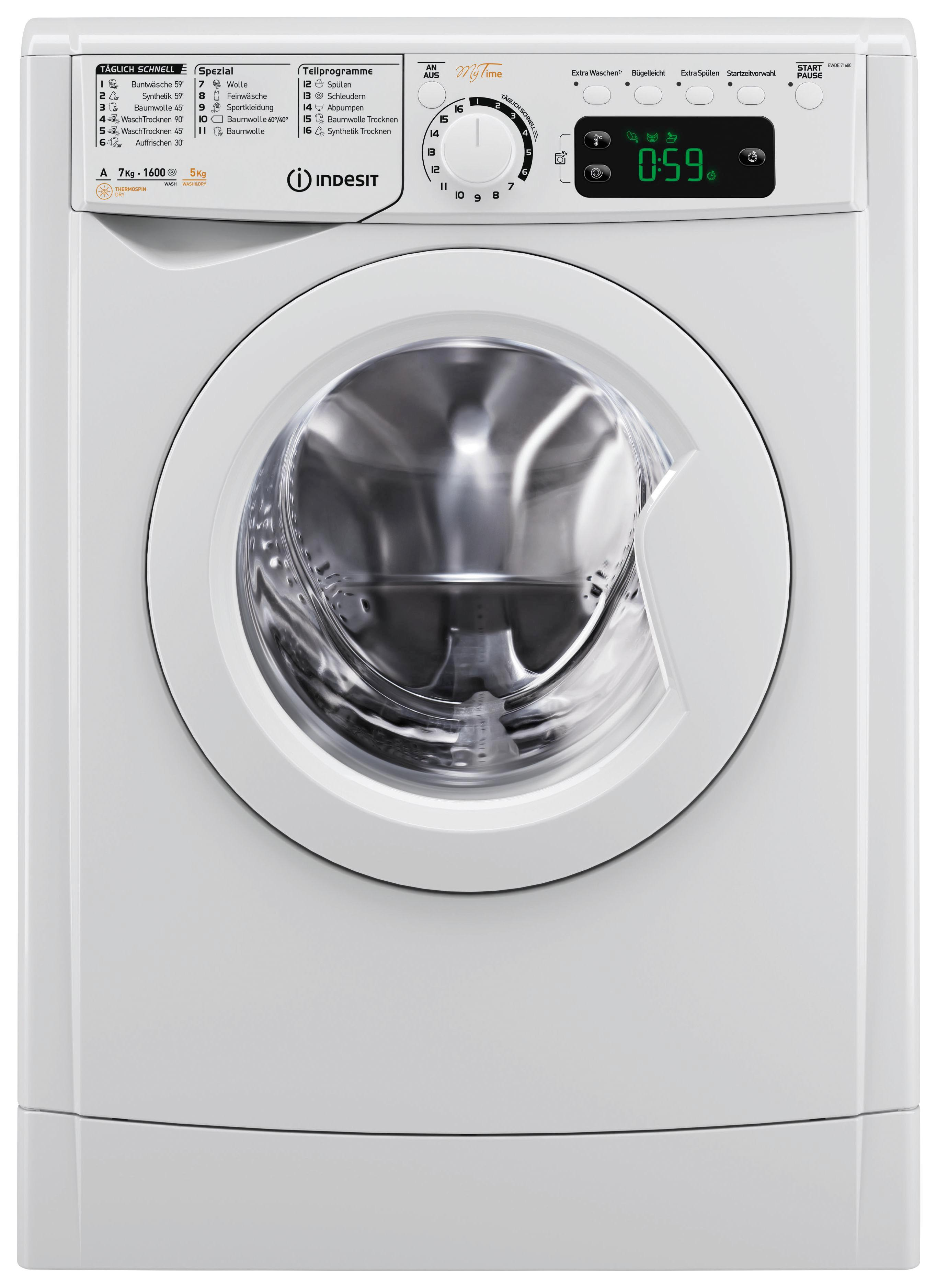 Indesit waschtrockner ewde w de online kaufen ➤ möbelix