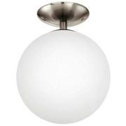 LED-DECKENLEUCHTE RONDO - Weiß/Nickelfarben, MODERN, Glas/Metall (25/31,5cm)