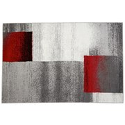 Webteppich Florence,160x230cm - Beige/Rot, KONVENTIONELL, Textil (160/230cm) - OMBRA