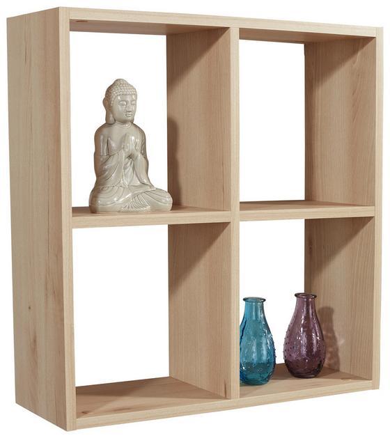 Regál Nástěnný Alex   *cenový Trhák* - barvy buku, Moderní, dřevěný materiál (60/60/18cm)