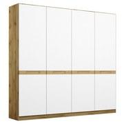 Drehtürenschrank Rangun B: 181 cm Weiß - Eichefarben/Weiß, Basics, Holz/Holzwerkstoff (181/197/54cm) - MID.YOU