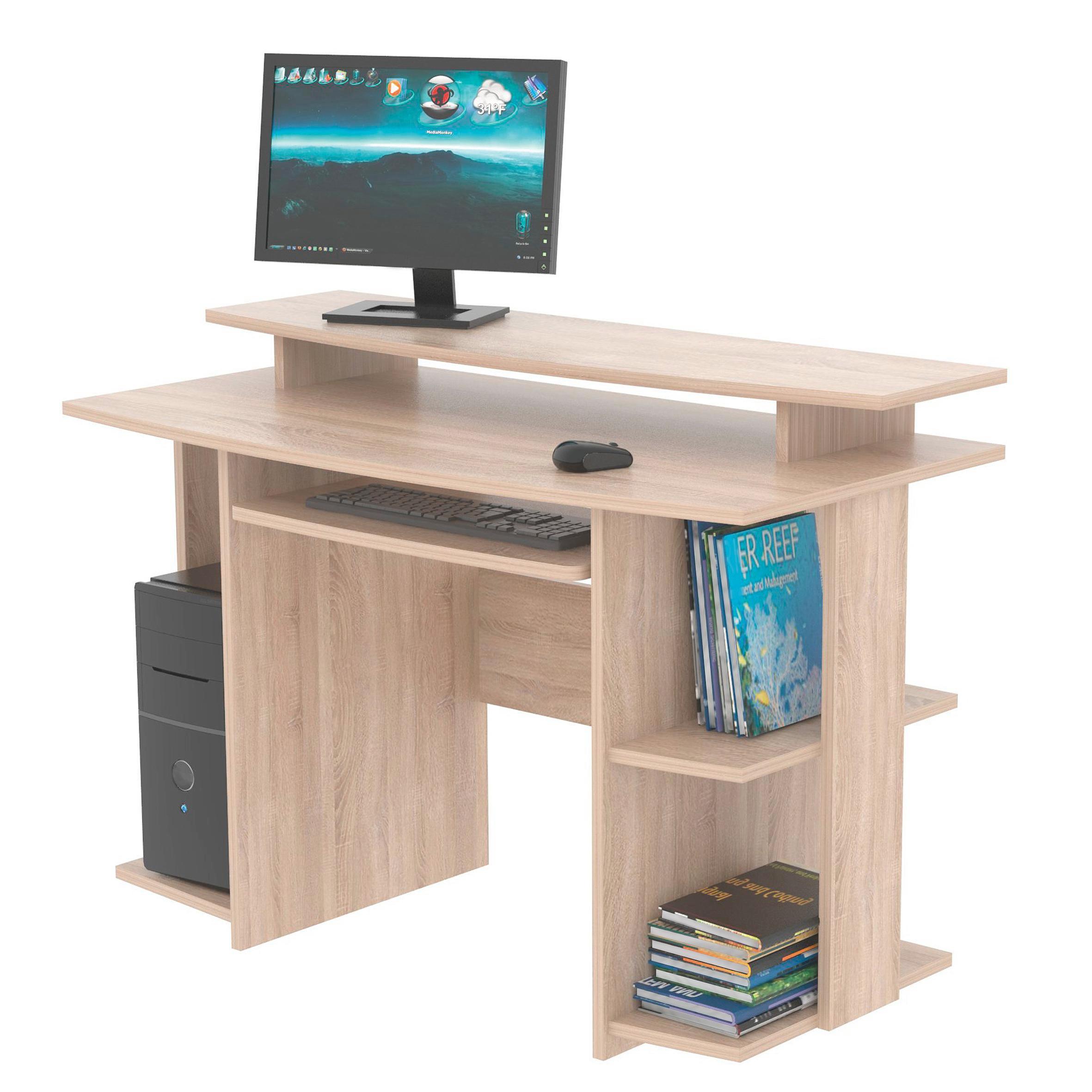 Psací Stůl David - barvy dubu, Moderní, dřevěný materiál (118/82/60cm)