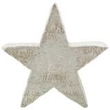 Dekostern Stella - Weiß/Grau, KONVENTIONELL, Stein (32,7/32,3/10,5cm) - Ombra