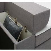 Posteľ Boxspring Flexi - antracitová, Moderný, drevený materiál/textil (226/183/95cm) - Modern Living