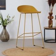 Barhocker-Set August 2-er Set Gelb - Gelb, Basics, Kunststoff/Metall (48/89/47cm) - MID.YOU