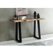Konsolentisch Gaya B: ca. 120 cm - Schwarz/Akaziefarben, Design, Holz/Metall (120/70/45cm) - Carryhome