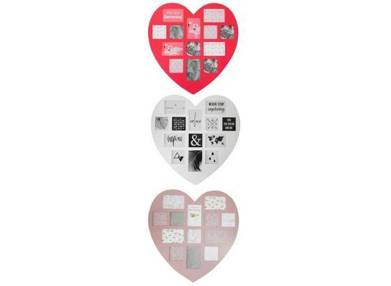 Rám Na Fotky Heart - biela/tmavoružová, Romantický / Vidiecky, kompozitné drevo/plast (60/59,5/0,9cm) - Mömax modern living