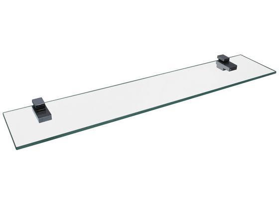 Glasablage Bath 2 B:60cm, Transparent - Transparent, Basics, Glas (60/12cm) - Fackelmann
