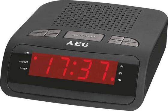 Uhrenradio Mrc 4142 - Schwarz, KONVENTIONELL, Kunststoff (15,5/11,7/7,3cm) - AEG