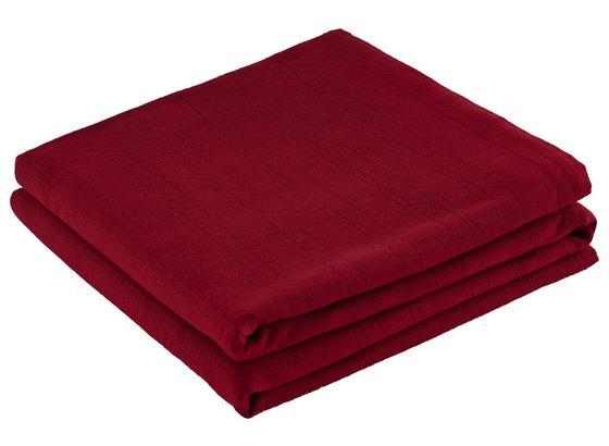 Prehoz Solid One -ext- - červená, textil (240/210cm) - Based