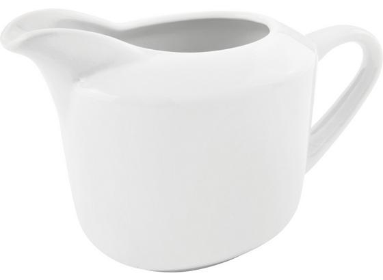 Konvička Na Mléko Adria - bílá, Konvenční, keramika (10,7/8,8cm) - Mömax modern living