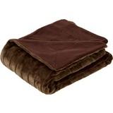 Kuscheldecke Emma 150x200 cm - Braun, KONVENTIONELL, Textil (150/200cm) - Ombra