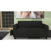 Sofa Basic Mikrofaser - Anthrazit/Schwarz, MODERN, Holz/Textil (145/70/78cm)