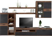 Obývacia Stena Tokio    *cenový Trhák* - farby dubu/čierna, Moderný, kov/kompozitné drevo (300/201/41cm) - Based
