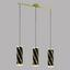Hängeleuchte Pinto Nero 1 - Goldfarben/Schwarz, MODERN, Glas/Metall (72,5/11/110cm)