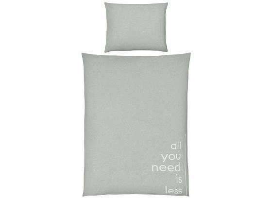 Posteľná Bielizeň Jersey Words - svetlozelená, Moderný, textil (140/200cm) - Premium Living
