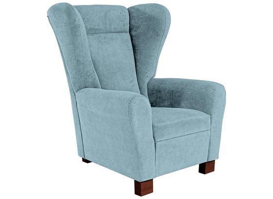 Křeslo Chandler - světle modrá, Moderní, kov/dřevo (95/109/97cm) - Ombra