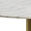 Esstisch Corby B: 105 cm Weiß - Messingfarben/Weiß, KONVENTIONELL, Stein/Metall (105/105/75cm) - Carryhome
