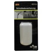 Schubladensicherung Selbstklebend - Weiß, KONVENTIONELL, Kunststoff (7/7/4cm)