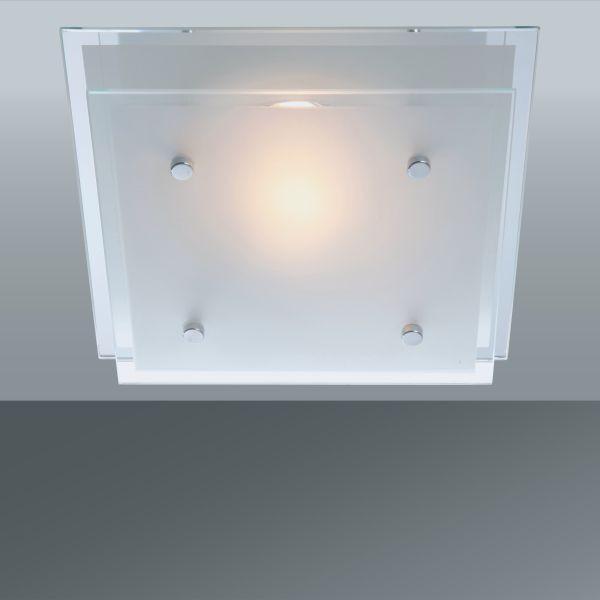 Stropná Lampa Adam - Konvenčný, kov/sklo (24/24cm)