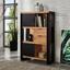 Regál Construction - prírodné farby/čierna, Štýlový, drevo (120/190/35cm) - Zandiara