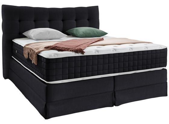 Boxspringbett Domino ca.200/200cm, Anthrazit - Anthrazit, KONVENTIONELL, Holz (200/200cm) - James Wood