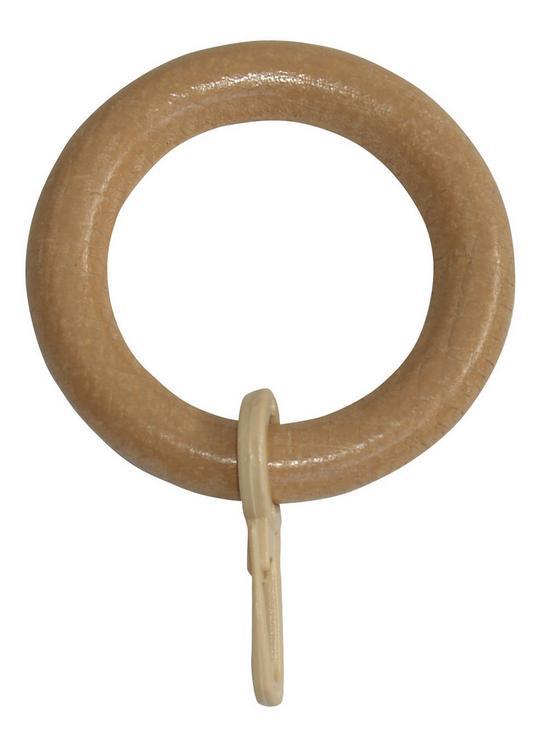 Ring Kiefer, 10 Stk. - Eichefarben, KONVENTIONELL, Holz/Kunststoff - Ombra
