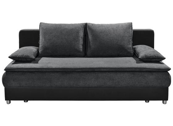 Schlafsofa Svenja B: ca. 208 cm - Anthrazit/Silberfarben, KONVENTIONELL, Holzwerkstoff/Textil (208/82/93cm) - Carryhome