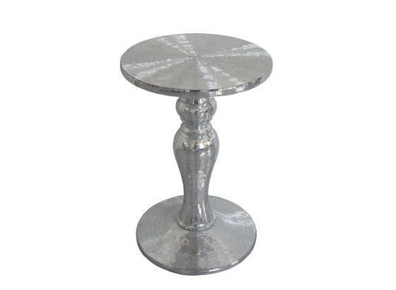 Sloup Na Květiny Shine - barvy stříbra, umělá hmota/sklo (43/63/43cm) - Premium Living