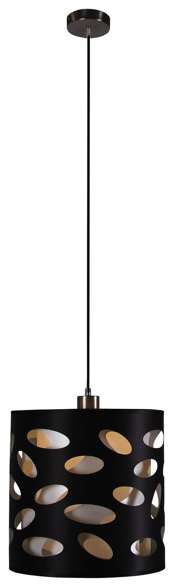 Hängeleuchte Dagmar - Schwarz, MODERN, Kunststoff/Textil (30/120cm) - Luca Bessoni