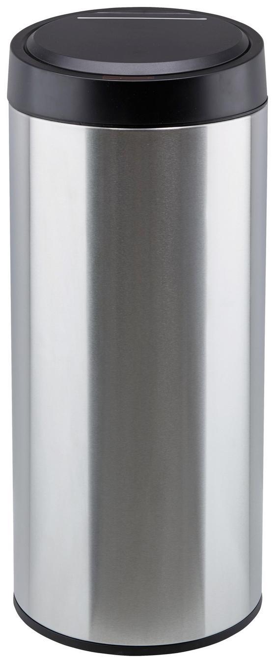 Koš Odpadkový Paul   - Ze Senzorem - barvy stříbra/černá, kov/umělá hmota (29,5/68cm) - Mömax modern living
