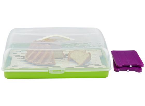 Prenosný Box Na Koláče Kimi - M. Kühlakku + Einsatz - lila/zelená, plast (42/29/12,5cm) - Mömax modern living