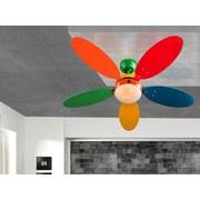 Deckenventilator Boni - Multicolor, KONVENTIONELL, Glas/Holz (106,6/37cm)