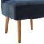 Kreslo Laura - modrá, Moderný, drevo/textil (62/83/62cm) - Mömax modern living