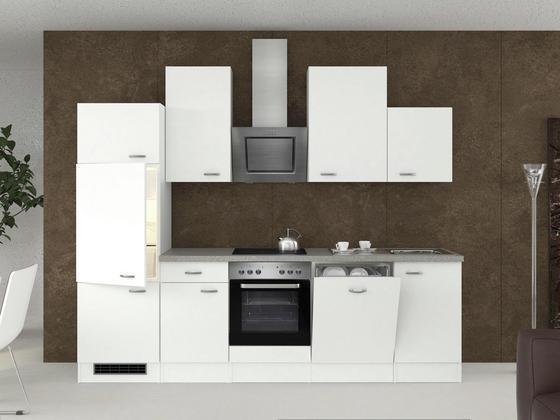 Küchenblock Wito 280cm Weiß - Edelstahlfarben/Weiß, MODERN, Holzwerkstoff (280/60cm)
