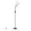 Led Stojacia Lampa Thore V: 175cm, 18 Watt - čierna/chrómová, Romantický / Vidiecky, kov (22/175,6cm) - Modern Living