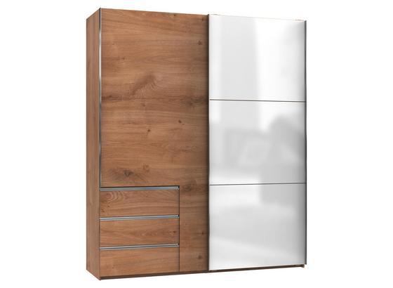 Skriňa S Posuvnými Dvermi Level 36 C - farby dubu/biela, Konvenčný, kompozitné drevo (200cm)