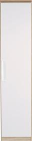 Ruhásszekrény Wien - Tölgyfa/Fehér, konvencionális, Faalapú anyag (47/212/56cm)