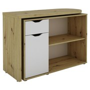 Schreibtisch mit Schwenkbarer Arbeitsplatte Turner, Eiche - Eichefarben/Weiß, KONVENTIONELL, Holzwerkstoff (106,5/76/40cm) - Livetastic