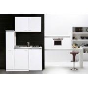 Miniküche Respekta B: 130 cm Weiß - Weiß, MODERN, Holzwerkstoff/Metall (130cm) - MID.YOU