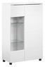 Highboard Newport 78cm Weiss - Weiß, MODERN, Holzwerkstoff (78/125/39cm)